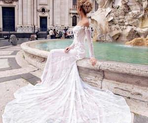 architecture, Prom, and weddingdress image