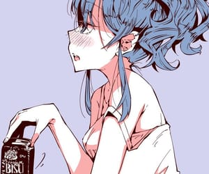 anime, art, and beer image