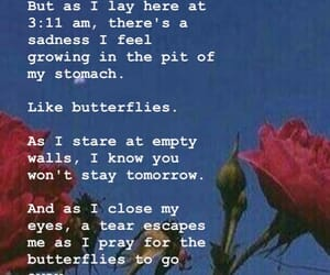 alone, butterflies, and complicated image