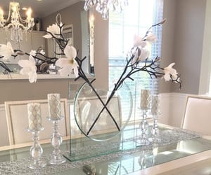 decor, dining room, and flowers image