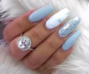 blue, nails, and silver image
