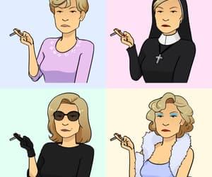 cigarette, jessica lange, and ahs image