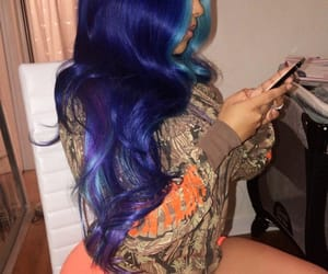 blue, goals, and hair image