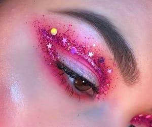 makeup, pink, and eye makeup image