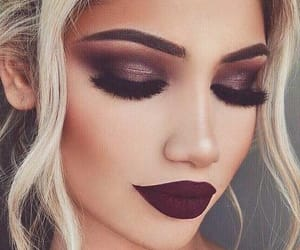 makeup, lips, and beauty image