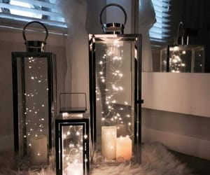 glam, home decor, and light image