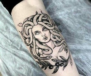 tattoo, medusa, and art image