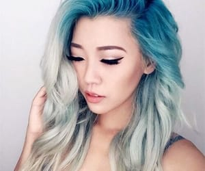 beauty, blue hair, and tumblr image