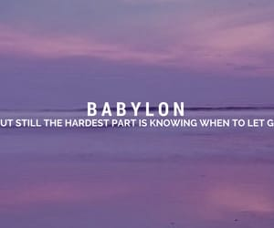 Lyrics, aesthetic, and Babylon image
