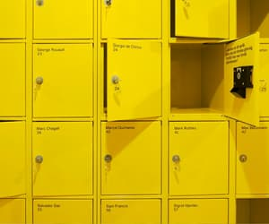 yellow, aesthetic, and locker image