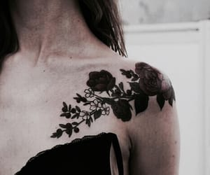 art, roses, and tats image