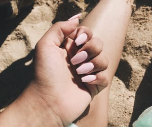beach, nails, and pink image