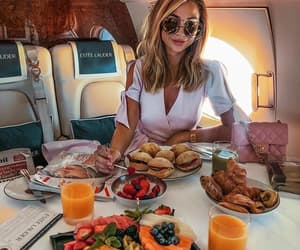 airplane, food, and orange juice image