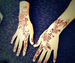 art, henna tattoo, and design image