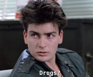 charlie sheen, drugs, and ferris bueller's day off image