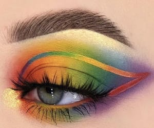 makeup, rainbow, and pride month image