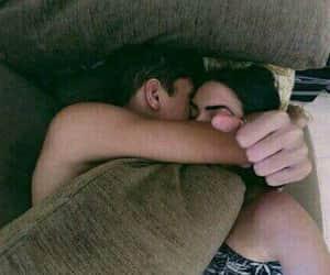 couples, sweet, and sleep image