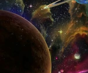 blue, planets, and stars image