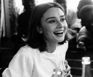 audrey hepburn, smile, and black and white image
