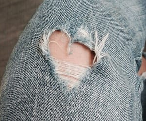 aesthetic, heart, and jeans image