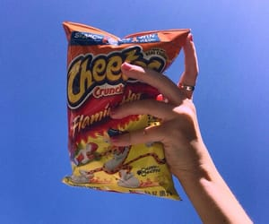 sky, cheetos, and blue image