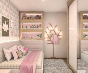 bedroom, glitter, and pink image