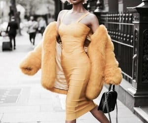 yellow, fashion, and dress image