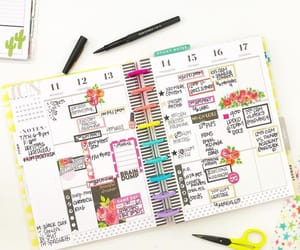 college, planners, and colors image