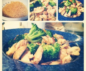 broccoli, Chicken, and cooking image