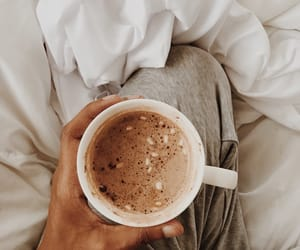 coffee, bed, and drink image