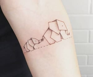 elephant, tattoo, and cute image