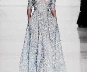 blue, dress, and runway image