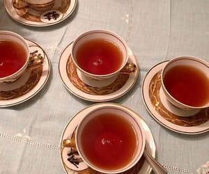 aesthetic, red, and tea image