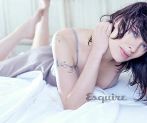 actress, bed, and brunette image
