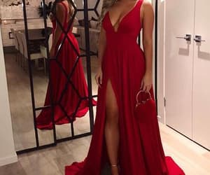 maxi dress, prom dress, and red dress image