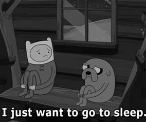 sleep, adventure time, and JAKe image