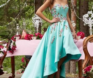 prom dress, high low dress, and prom gown image