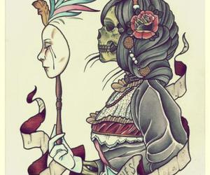 drawing and skull image