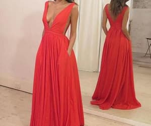 red prom dress and simple prom dress image