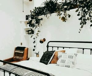 bedroom, black, and brown image