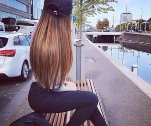 dress, girl, and long hair image