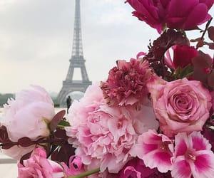 flowers, paris, and bouquet image