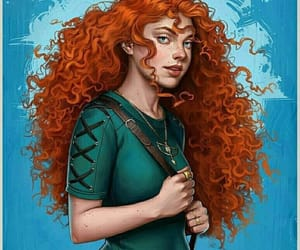brave, disney, and drawing image