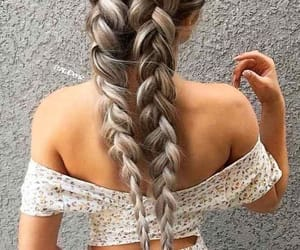 braid, top, and ombre hair image