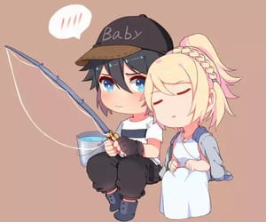 chibi, final fantasy, and fishing image