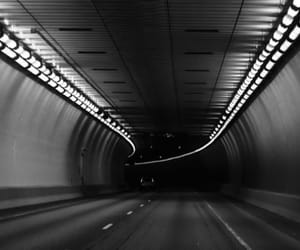 b&w and tunnel image