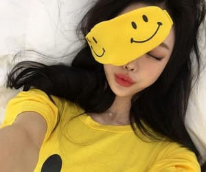 yellow, asian, and girl image