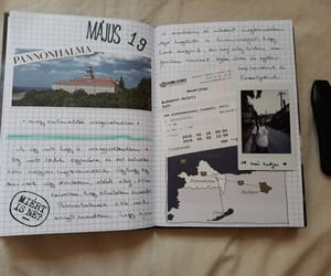 hungary, journal, and scrapbook image