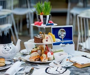 afternoon tea, britain, and food image