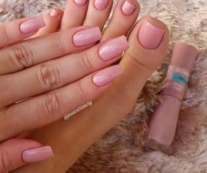nails, feet, and girl image